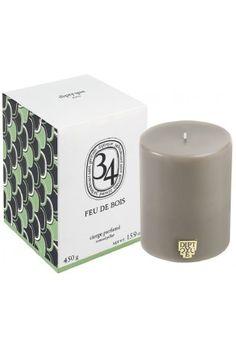 Feu de Bois scented pillar candle