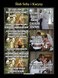 Seba and Karyna& wedding Quality Memes, Wtf Funny, Fun Facts, Beautiful Pictures, Humor, Dna, Gaming, Wedding, Valentines Day Weddings
