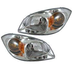 05-10 Chevy Cobalt Headlight Headlamp w/Chrome Housing Left & Right side...new #AftermarketReplacement