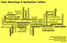 color meanings and symbolism chart - yellow