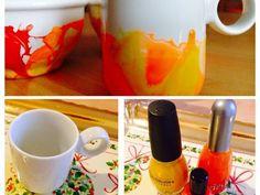 Un diy davvero semplice per dare del colore alle vostre tazze bianche della colazione!