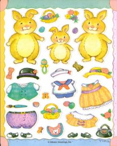Kids Printables Coloring Pages - Bunny paper dolls 22