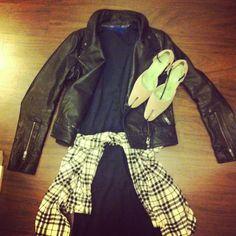 Grunge chic. Bazzul dress, mackage jacket, vintage siggersonmorrison shoes.