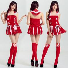 525582b408ea 2018 Christmas Dress Sexy Ladies Christmas Outfits Red Miss Santa  Sleeveless Women S Fancy Dress Costume Xmas Party Costume Free Size From  Boyyoung