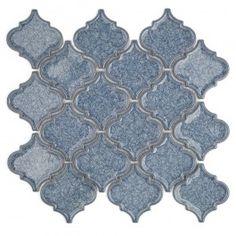 Roman Collection Brisk Blue Arabesque Glass Tile - Arabesque Tile - Shop By Tile Shape and Pattern