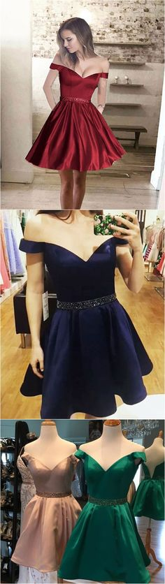 Off the shoulder homecoming dresses 2017,short prom dresses,senior fromal dresses