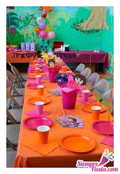 Ideas para fiesta de cumpleaños de Dora la Exploradora. Encuentra todos los artículos para tu fiesta de cumpleaños en nuestra tienda en línea: http://www.siemprefiesta.com/fiestas-infantiles/ninas/articulos-dora-la-exploradora.html?limit=all&utm_source=Pinterest&utm_medium=Pin&utm_campaign=Dora