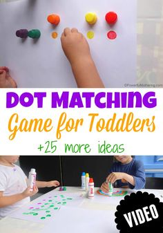 Cute Dot Matching Game for Toddlers. Show your toddler the video and they will want to copy this activity!
