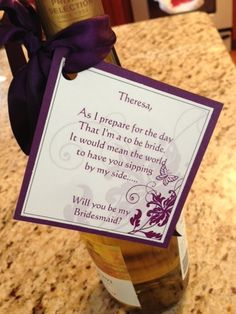 How I asked my bridesmaid to be in my wedding