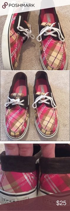 Women's Sperry Top-Sider Boat Shoe - 10 Great for summer. Plaid Sperry Top-Sider women's sneaker. Excellent condition! Sperry Top-Sider Shoes Flats & Loafers
