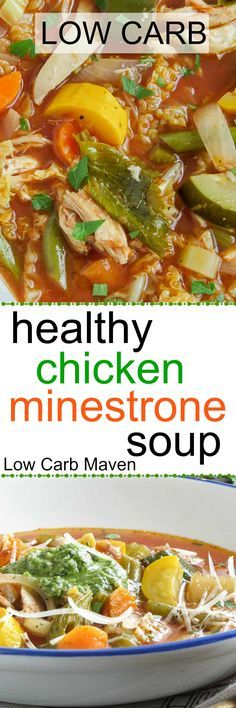 This healthy low carb minestrone soup makes a great low carb lunch.