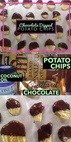 DIY Chocolate Dipped Potato Chip Recipe: These chocolate dipped treats are 3 things- easy, inexpensive and fun! Check them out at www.blogtotaste.com