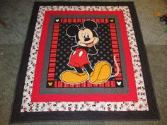 "Mickey Mouse Quilt - 54"" x 60"" by TheKingsQuiltShop on Etsy"
