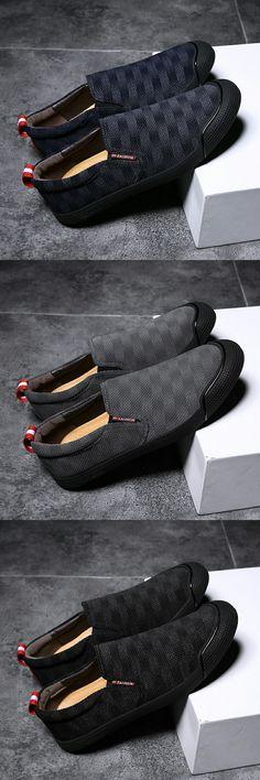 Prelesty Men Casual Loafer Gentleman Fashion Party Plaid Pattern Cool Slip  On 347eadea6b