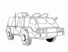 Military Truck Coloring Pages Free - Coloring For Kids 2019 Bee Coloring Pages, House Colouring Pages, Online Coloring Pages, Coloring Pages For Boys, Coloring Books, Free Coloring, Disney Princess Coloring Pages, Disney Princess Colors, Printable Coloring Sheets
