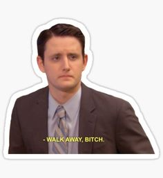 """""""Gabe - The Office"""" Stickers by TellAVision Us Office, The Office Show, Office Gifts, The Office Stickers, Phone Stickers, Office Jokes, Michael Scott Quotes, Office Wallpaper, Paper People"""