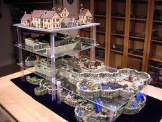 Cavernous - Dwarven Forge sets piled up - good idea for easy-to-use multiple level set