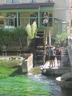 Fontaine-de-Vaucluse located in the Luberon Valley of Provence Provence France, South Of France, Happy Campers, Photo Contest, Green Colors, Countryside, Scenery, Spaces, Explore