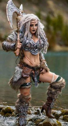 Jessica Nigri as a VikingYou can find Jessica nigri and more on our website.Jessica Nigri as a Viking Fantasy Girl, Fantasy Female Warrior, Fantasy Art Women, Fantasy Armor, Final Fantasy, Viking Warrior Woman, Warrior Queen, Warrior Girl, Costume Viking