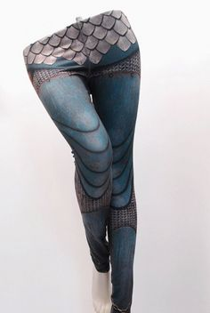 These chainmail and armor-patterned leggings are a thing that exist.