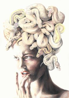 The girl with the snakes by sophitschku on Deviantart - Medusa