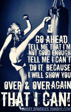 I can and I am and I will continue to be the best that I can be....I will lead by example and be an ACTIVE MOMMY!!