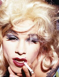 Mark Wahlberg in Drag by David Lachapelle... my niece is not gonna believe this lololo