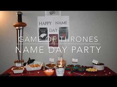 How to throw a Game of Thrones themed Party like I did. I share some tips and tricks to host a Feast for Crows even if you are on a budget. Game Of Thrones Names, Game Of Thrones Food, Game Of Thrones Theme, Happy Name Day, Happy Names, A Feast For Crows, Wooden Music Box, Got Party, How To Make Labels