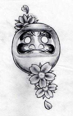 Daruma doll drawn by Aidan @Lozz forge tattoo Leicester tattoo studio Leicester, UK #tattoo #japanese