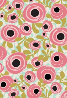 Draw Flower Patterns Iza Pearl Design - Hello Gorgeous - Peony Garden in Pink -
