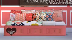 My Sims 4 Blog: The Coral Bedroom Collection by DreamCatcherSims4