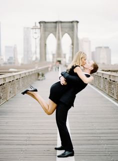 Photography: Rebecca Yale Portraits - rebeccayale.com  Read More: http://www.stylemepretty.com/new-york-weddings/2013/12/30/new-york-city-engagement-session-2/