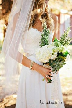 lace wedding dress lace wedding dresses...also love the flowers!