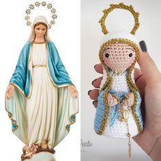 A minha inspiração para produzir qualquer modelo vêm de imagens já conhecidas e comercializadas em resina ou gesso. . . Tento aproximar o… Knitted Dolls, Crochet Dolls, Crochet Baby, Knit Crochet, Crochet Angels, Soft Dolls, Amigurumi Doll, Gifts For Girls, Doll Clothes