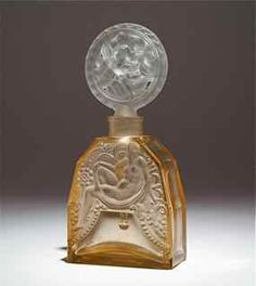 260: 1920s Hoffmann Pink Crystal Perfume Bottle : Lot 260