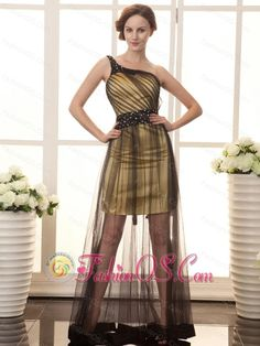 Cool Gold Dresses For Prom One Shoulder Beaded Decorate Shoulder Tulle Beaded Decorate Waist Black And Gold... Check more at http://24shopping.cf/my-desires/gold-dresses-for-prom-one-shoulder-beaded-decorate-shoulder-tulle-beaded-decorate-waist-black-and-gold/