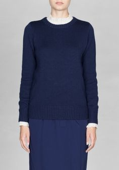 & OTHER STORIES Crafted from wool, this knitted sweater has a soft feel and a simple, clean look.