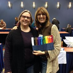 This past weekend I met so many talented and inspiring folks looking to take their creative businesses to the next level at the Arts Business Institute led by the fabulous @artsy_shark. Here I am with @marthabrett who bought one of my pencil rolls to use in her mindful coloring practice. I can't wait to see her new book when it comes  out at the end of January. Pop over to her bio and click thru to her blog! #creativelife #mindfulness #artBiz #adultcoloring