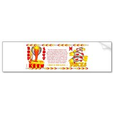 Valxart zodiac fire snake born Pisces Bumper Stickers   by valxart for $4.15 is one of 720  designs for the 60 years of the Chinese zodiac combined with each of 12 zodiac designs and forecast each used on several products . Valxart also has 12 zodiac cusp and 60 years of chinese zodiac. If you do not see desired year and zodiac sign contact info@valx.us for links to desired images.