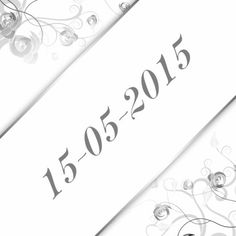 #Trouwen.Romantische en sierlijke trouwkaart waarvan u de tekst naar wens kunt aanpassen.Trouwen klassiek zilver sier b - Trouwkaarten - Kaartje2go