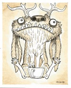 Hyrum  by vonn briggs painted with coffee