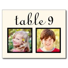 Wedding Table Number Cards | Bride   Groom Photos Post Cards