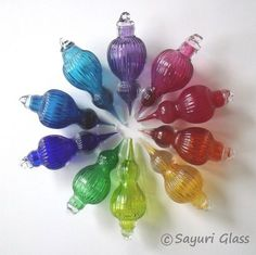Jewel Colors, Christmas Inspiration, All Things Christmas, Perfume Bottles, Rainbow, Jewels, Christmas Ornaments, Auntie, Cool Stuff