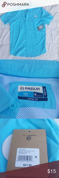 NEW MAGELLAN FISHING SHIRT NWT Magellan Fishing Shirt. Light Weight and Great Fit. Size Medium. Magellan  Shirts Casual Button Down Shirts
