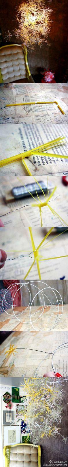 DIY Straw Decorative Tree