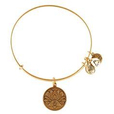 Lotus Peace Petals Charm Bracelet | Alex and Ani