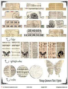 Free Printable Vintage Ephemera Tabs and Elements from Vintage Glam Studio Vintage Ephemera, Éphémères Vintage, Vintage Images, Vintage Words, Design Vintage, Vintage Labels, Vintage Stuff, Journal Cards, Junk Journal