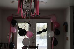 Decorations at a Mustache Party #mustache #partydecor