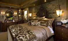 - mediterranean - bedroom - san diego - by Robeson Design Tuscan Bedroom, Home Bedroom, Bedroom Decor, Bedroom Ideas, Bedroom Suites, Bedroom Pictures, Bedroom Inspiration, Dream Bedroom, Bedroom Wall