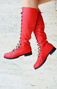 Red Genuine Leather Boots, Lace Red Long Boots TBT05, Lace Women Boots https://www.etsy.com/listing/560658562/red-genuine-leather-boots-lace-red-long?utm_campaign=crowdfire&utm_content=crowdfire&utm_medium=social&utm_source=pinterest